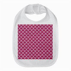 Scales1 White Marble & Pink Denim Bib by trendistuff