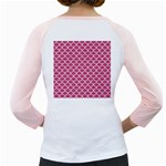 SCALES1 WHITE MARBLE & PINK DENIM Girly Raglans Back
