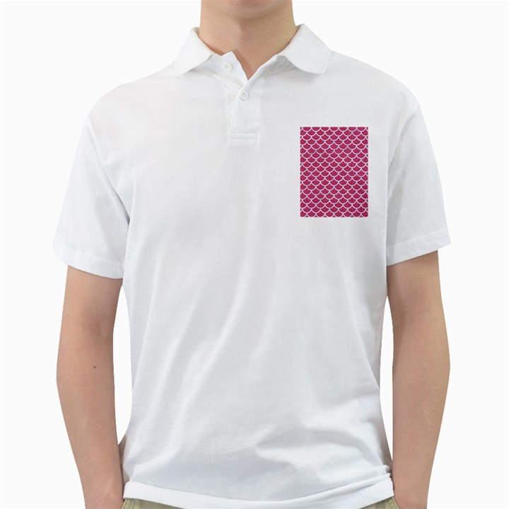 SCALES1 WHITE MARBLE & PINK DENIM Golf Shirts