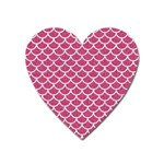 SCALES1 WHITE MARBLE & PINK DENIM Heart Magnet Front