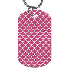 Scales1 White Marble & Pink Denim Dog Tag (two Sides)
