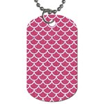 SCALES1 WHITE MARBLE & PINK DENIM Dog Tag (Two Sides) Front