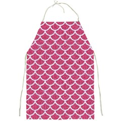 Scales1 White Marble & Pink Denim Full Print Aprons by trendistuff