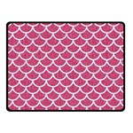 SCALES1 WHITE MARBLE & PINK DENIM Fleece Blanket (Small) 50 x40 Blanket Front