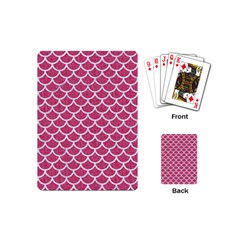 Scales1 White Marble & Pink Denim Playing Cards (mini)