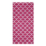 SCALES1 WHITE MARBLE & PINK DENIM Shower Curtain 36  x 72  (Stall)  33.26 x66.24 Curtain