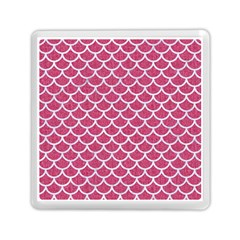 Scales1 White Marble & Pink Denim Memory Card Reader (square)  by trendistuff