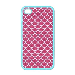 Scales1 White Marble & Pink Denim Apple Iphone 4 Case (color)