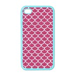 SCALES1 WHITE MARBLE & PINK DENIM Apple iPhone 4 Case (Color) Front