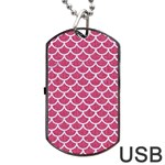 SCALES1 WHITE MARBLE & PINK DENIM Dog Tag USB Flash (Two Sides) Back