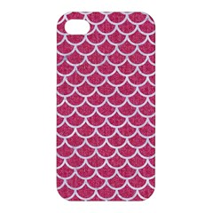 Scales1 White Marble & Pink Denim Apple Iphone 4/4s Hardshell Case by trendistuff