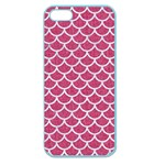 SCALES1 WHITE MARBLE & PINK DENIM Apple Seamless iPhone 5 Case (Color) Front
