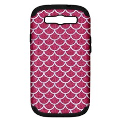 Scales1 White Marble & Pink Denim Samsung Galaxy S Iii Hardshell Case (pc+silicone) by trendistuff
