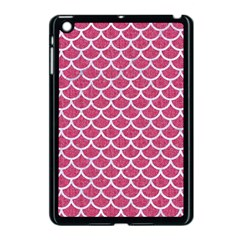 Scales1 White Marble & Pink Denim Apple Ipad Mini Case (black) by trendistuff