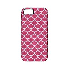 Scales1 White Marble & Pink Denim Apple Iphone 5 Classic Hardshell Case (pc+silicone)
