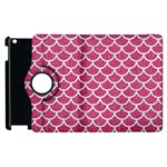 SCALES1 WHITE MARBLE & PINK DENIM Apple iPad 2 Flip 360 Case Front
