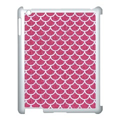 Scales1 White Marble & Pink Denim Apple Ipad 3/4 Case (white)