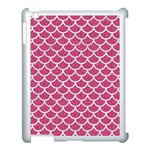 SCALES1 WHITE MARBLE & PINK DENIM Apple iPad 3/4 Case (White) Front