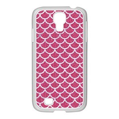 Scales1 White Marble & Pink Denim Samsung Galaxy S4 I9500/ I9505 Case (white)