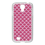 SCALES1 WHITE MARBLE & PINK DENIM Samsung GALAXY S4 I9500/ I9505 Case (White) Front