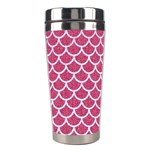 SCALES1 WHITE MARBLE & PINK DENIM Stainless Steel Travel Tumblers Center