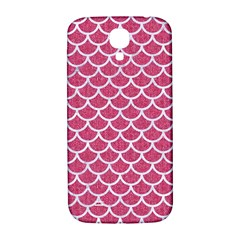 Scales1 White Marble & Pink Denim Samsung Galaxy S4 I9500/i9505  Hardshell Back Case