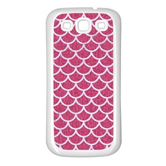 Scales1 White Marble & Pink Denim Samsung Galaxy S3 Back Case (white) by trendistuff