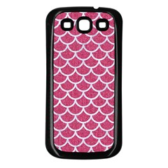 Scales1 White Marble & Pink Denim Samsung Galaxy S3 Back Case (black) by trendistuff