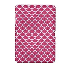 Scales1 White Marble & Pink Denim Samsung Galaxy Tab 2 (10 1 ) P5100 Hardshell Case  by trendistuff