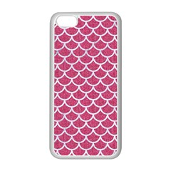 Scales1 White Marble & Pink Denim Apple Iphone 5c Seamless Case (white)