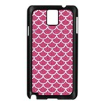 SCALES1 WHITE MARBLE & PINK DENIM Samsung Galaxy Note 3 N9005 Case (Black) Front