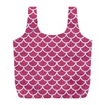 SCALES1 WHITE MARBLE & PINK DENIM Full Print Recycle Bags (L)  Front