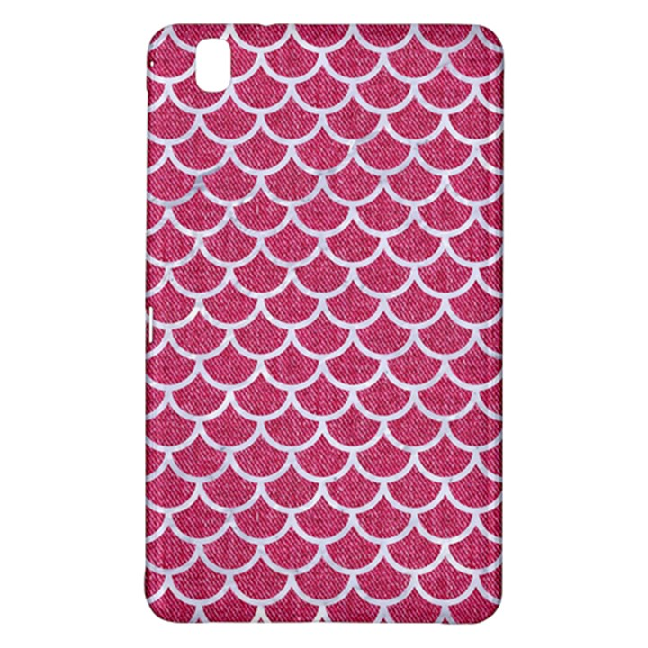 SCALES1 WHITE MARBLE & PINK DENIM Samsung Galaxy Tab Pro 8.4 Hardshell Case