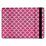 SCALES1 WHITE MARBLE & PINK DENIM Samsung Galaxy Tab Pro 12.2  Flip Case Front