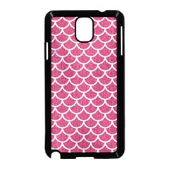 Scales1 White Marble & Pink Denim Samsung Galaxy Note 3 Neo Hardshell Case (black) by trendistuff