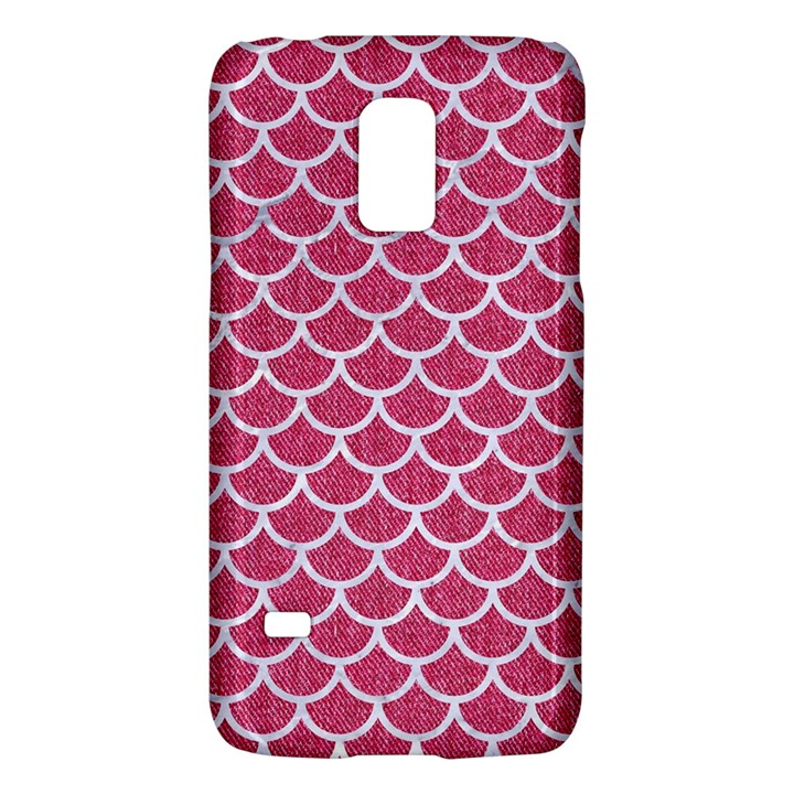 SCALES1 WHITE MARBLE & PINK DENIM Galaxy S5 Mini
