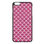SCALES1 WHITE MARBLE & PINK DENIM Apple iPhone 6 Plus/6S Plus Black Enamel Case Front