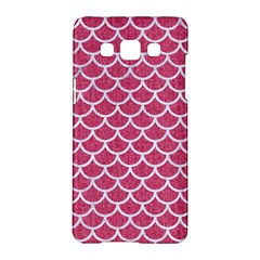 Scales1 White Marble & Pink Denim Samsung Galaxy A5 Hardshell Case