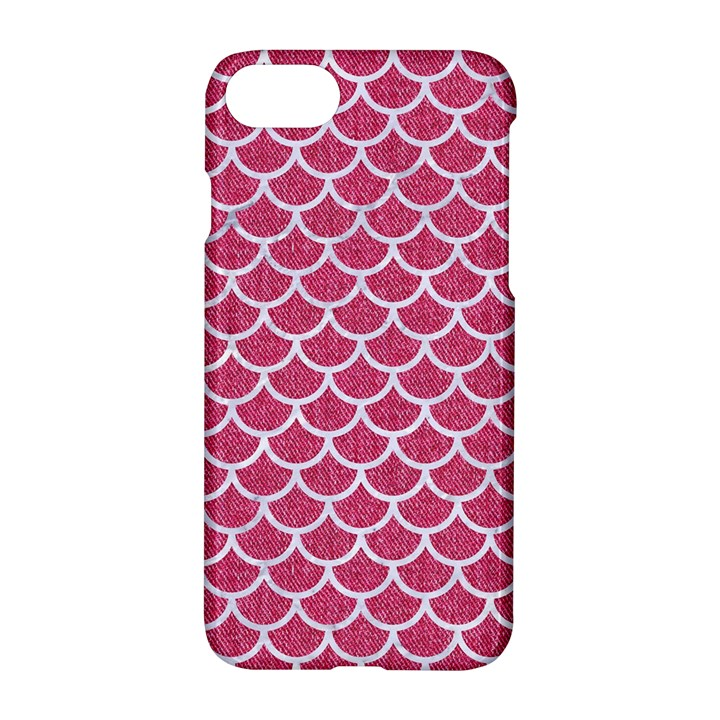 SCALES1 WHITE MARBLE & PINK DENIM Apple iPhone 7 Hardshell Case