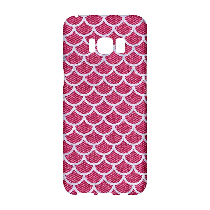 SCALES1 WHITE MARBLE & PINK DENIM Samsung Galaxy S8 Hardshell Case