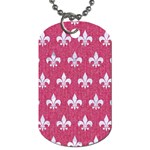 ROYAL1 WHITE MARBLE & PINK DENIM (R) Dog Tag (Two Sides) Back