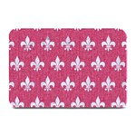 ROYAL1 WHITE MARBLE & PINK DENIM (R) Plate Mats 18 x12  Plate Mat