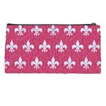 ROYAL1 WHITE MARBLE & PINK DENIM (R) Pencil Cases Back