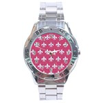 ROYAL1 WHITE MARBLE & PINK DENIM (R) Stainless Steel Analogue Watch Front