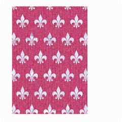 Royal1 White Marble & Pink Denim (r) Large Garden Flag (two Sides)