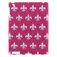 Royal1 White Marble & Pink Denim (r) Apple Ipad 3/4 Hardshell Case
