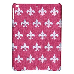 Royal1 White Marble & Pink Denim (r) Ipad Air Hardshell Cases by trendistuff