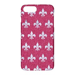 Royal1 White Marble & Pink Denim (r) Apple Iphone 7 Plus Hardshell Case by trendistuff