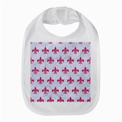 Royal1 White Marble & Pink Denim Bib