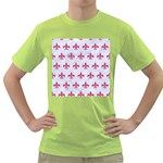 ROYAL1 WHITE MARBLE & PINK DENIM Green T-Shirt Front